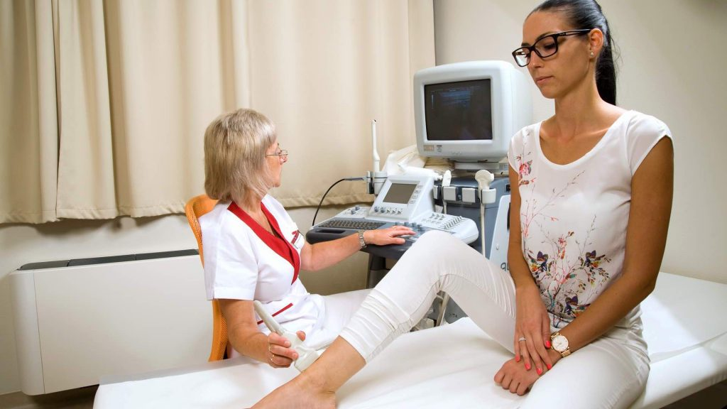 visszérvizsgálat a lábakon